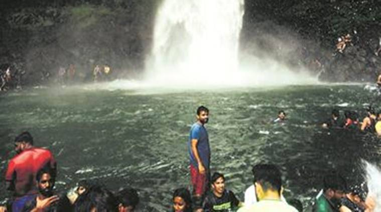 Devkund waterfall, Pune Devkund waterfall, Pune Devkund waterfall opens, Pune News, Latest Pune News, Indian Express, Indian Express News