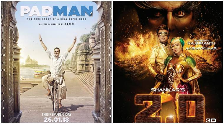 NEW POSTER: Akshay Kumar's Padman To Clash With Rajnikanth's 2.0