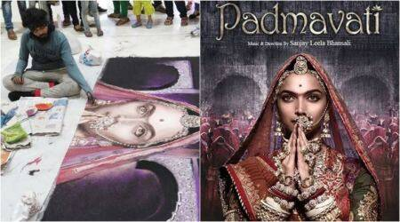 Goons destroy Deepika Padukone Padmavati rangoli - which took 48 hrs to create - in seconds