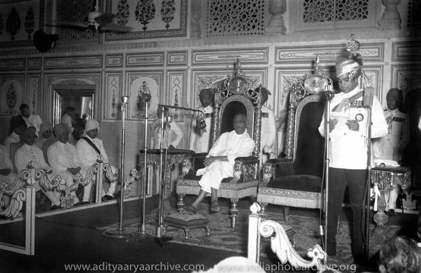 sardar patel, maharaja of jaipur, princely states, kulwant roy