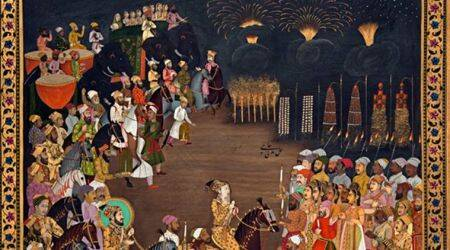 diwali in india, firecracker history, mughal india