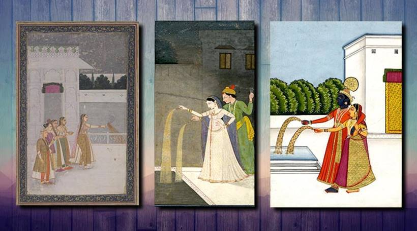fireworks through paintings, history of fireworks, mughal painting