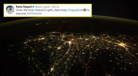 Astronaut shares India's REAL Diwali photo from space, Twitterati thank him for the 'stunningshot'