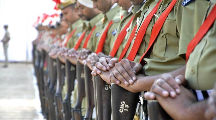 police commemoration day, rajnath singh, police commemoration day 2017, police commemoration day parade, what is police commemoration day, police parade, indian express news