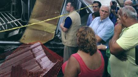 VP Mike Pence tours islands wrecked by Hurricane Maria
