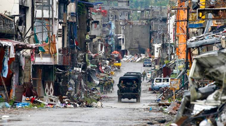 Philippines troops, ISIS Bodies, ISIS Militants, Marawi, Philippine ISIS Bodies, Rodrigo Duterte, World News, Latest World News, Indian Express, Indian Express News