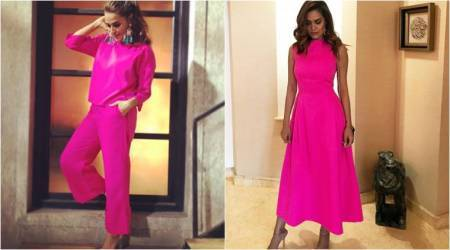 Neha Dhupia or Esha Gupta in hot pink: Who wore it better?