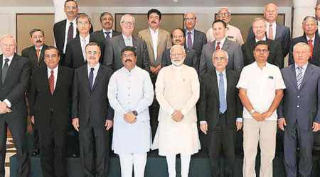 Narendra Modi, indian energy sector, Prime Minister Narendra Modi, PM Mod, Dharmendra Pradhan, Department of Industrial Policy and Promotion, Rosneft, BP, Reliance, Saudi Aramco, Exxon Mobil, Royal Dutch Shell, Vedanta, Wood MacKenzie, IHS Markit, Schlumberger, Halliburton, Xcoal, ONGC, Indian Oil, GAIL, Petronet LNG, Oil India, HPCL, Delonex Energy, NIPFP, International Gas Union, World Bank, International Energy Agency, business news, Indian express