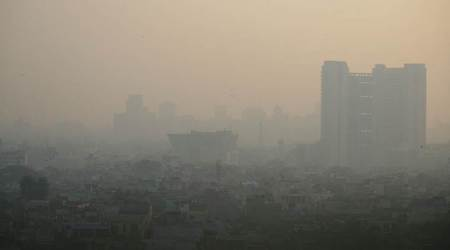 gurgaon, gurgaon pollution, diwali 2017, diwali pollution, gurgain air pollution level, gurgaon air quality, diwali pollution, latest news gurgaon, indian express