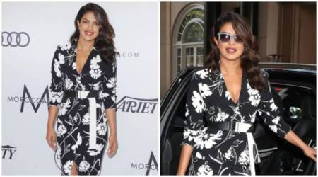 Priyanka Chopra's boring black-and-white Michael Kors dress is quite a let down