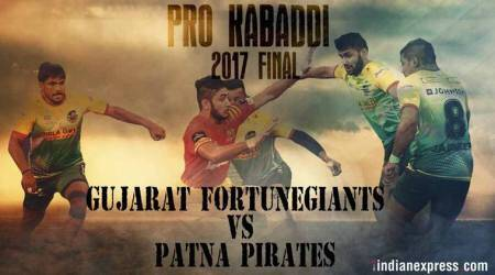 kabaddi live score, live kabaddi score, live kabaddi streaming, gujarat fortunegiants vs patna pirates live score, gujarat vs patna live, patna pirates vs gujarat fortunegiants live, pro kabadd live score, kabaddi news, sports news, indian express