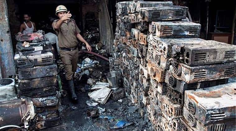 Fire accident, Kamla Market, fire in Delhi, Firefighters, Market fire, fire incident, Delhi fire, City News, Delhi News, India News, Indian Express