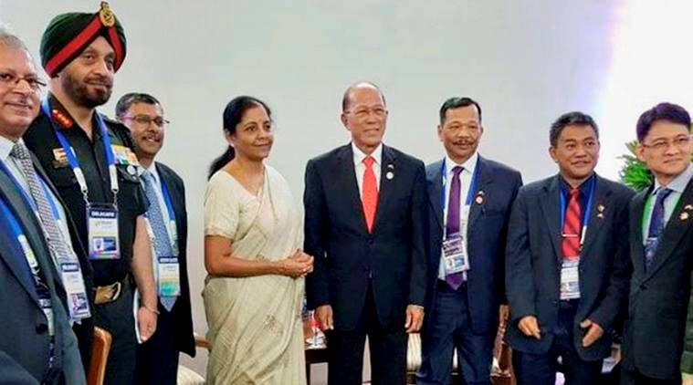 Nirmala Sitharaman, Defence Minister, ASIAN, OPillipines, India in ASIAN, India News, Indian Express