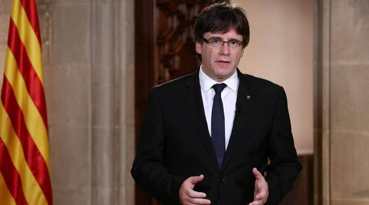 catalonia, catalonia crisis, spain, Carles Puigdemont, catalonia independence, catalonia referendum, spain crisis, barcelona, world news, indian express