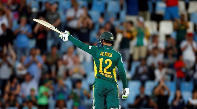 South Africa vs Bangladesh, Quinton de Kock, Hashim Amla, Quinton de Kock hundred, Hashim Amla hundred, sports news, cricket, Indian Express