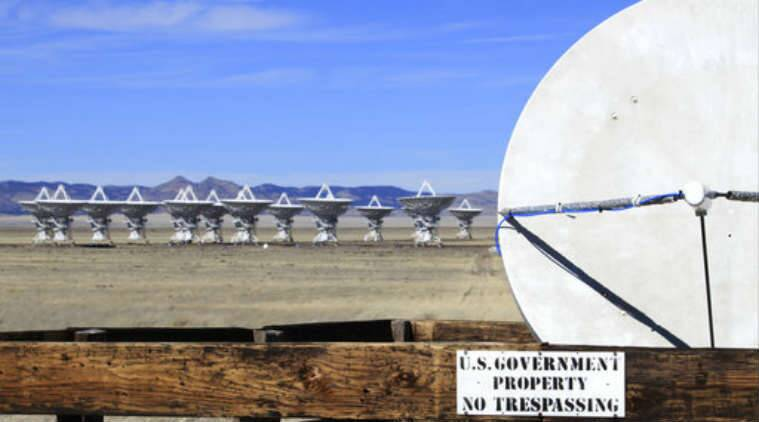 Radio telescopes, central New Mexico, Milky Way measurement, radio waves, Milky Way size, Max-Planck Institute for Radio Astronomy, Very Long Baseline Array, Harvard-Smithsonian Centre for Astrophysics, Earth's southern hemisphere, Hubble Space Telescope, radio waves space detections