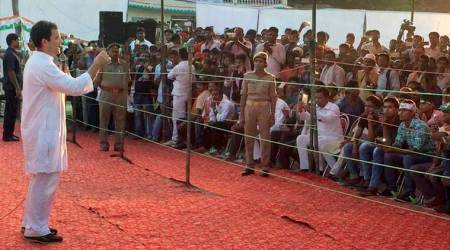 Rahul Gandhi, Rahul gandhi in amethi, rahul gandhi amethi visit, rahul amethi visit, congress, BJP, UP government, UP development projects, Uttar pradesh, india news