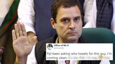 rahul gandhi, rahul gandhi tweets, rahul gandhi twitter, rahul gandhi dog, rahul gandhi latest twitter, rahul gandhi latest tweets, who writes rahul gandhi tweets, who writes rahul gandhis tweets for him, rahul gandhi best tweets, indian express, indian express news