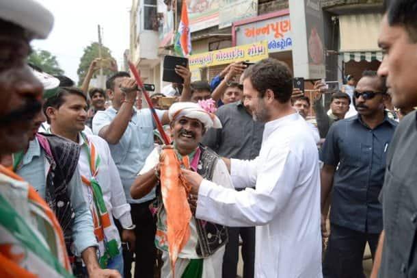 Rahul Gandhi, Rahul Gandhi in Gujarat, Rahul Gandhi Gujarat visit, Rahul Gandhi rally, Rahul Gandhi rally photos, India news, Indian Express