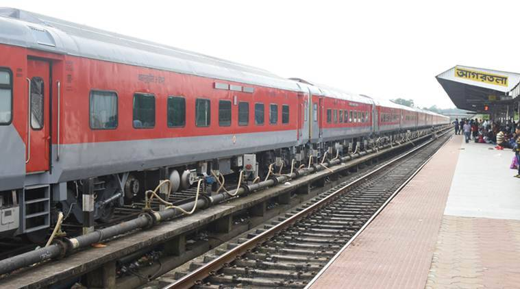 Agartala- New Delhi Rajdhani Express flagged off