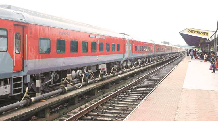 Rajdhani Express between Agartala-Delhi gets on the roll