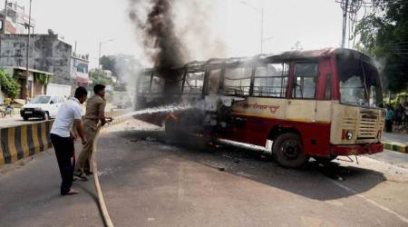 BSP leader Rajesh Yadav shot dead near Allahabad University; supporters turn violent, set ablaze bus
