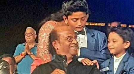 Rajinikanth had two special guests at 2.0 audio launch, see adorable photo