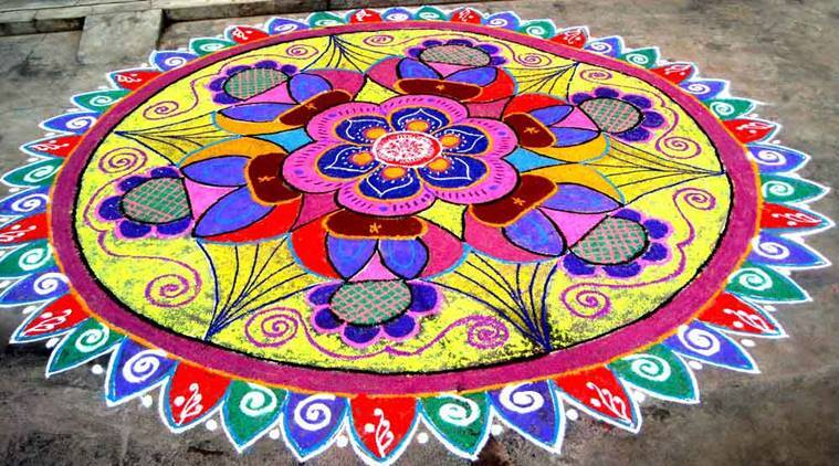 Happy New Year Best Rangoli 43