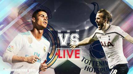 Real Madrid vs Spurs Live Score, Champions League