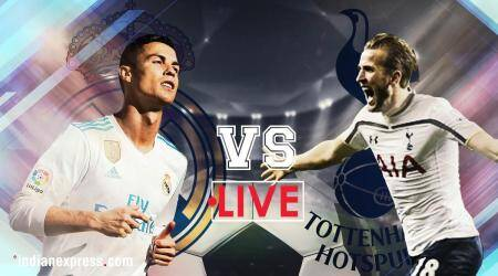 Real Madrid vs Tottenham Hotspur Live Score, Champions League: Real Madrid 1-1 Spurs at half time; Cristiano Ronaldo equalises