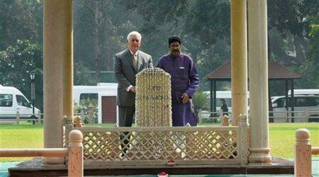 Such a simple man: US Secretary of State Rex Tillerson at Gandhi memorial