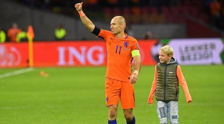 Arjen Robben announces retirement from international duty after Netherlands fail to secure World Cup spot