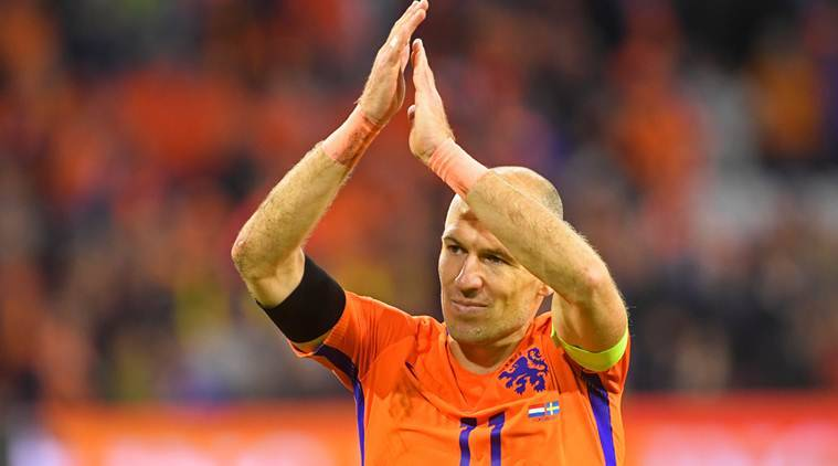 Arjen Robben, Netherlands vs Sweden, FIFA 2018 World Cup qualifiers, Netherlands out of World Cup