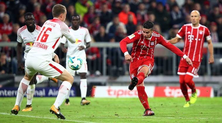 James Rodriguez, Lewandowski, Bayern Munich, Leipzig, Bundesliga, Football news, Indian express