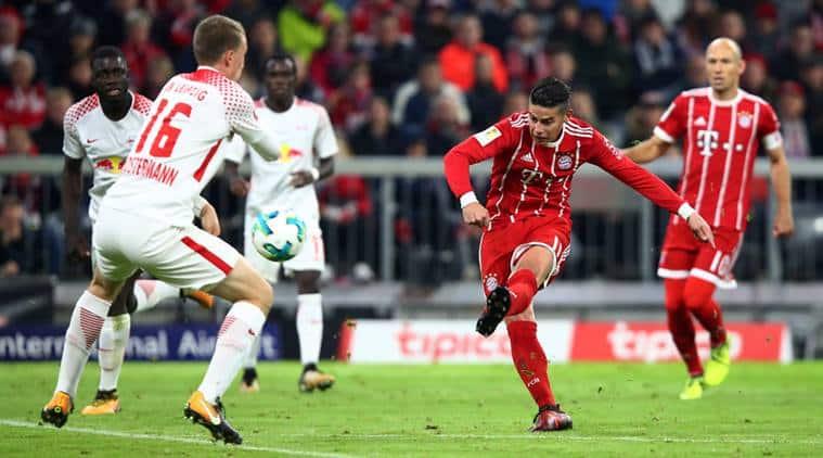 James Rodriguez, Lewandowski, Bayern Munich, Leipzig, Bundesliga, Football news, Indian express