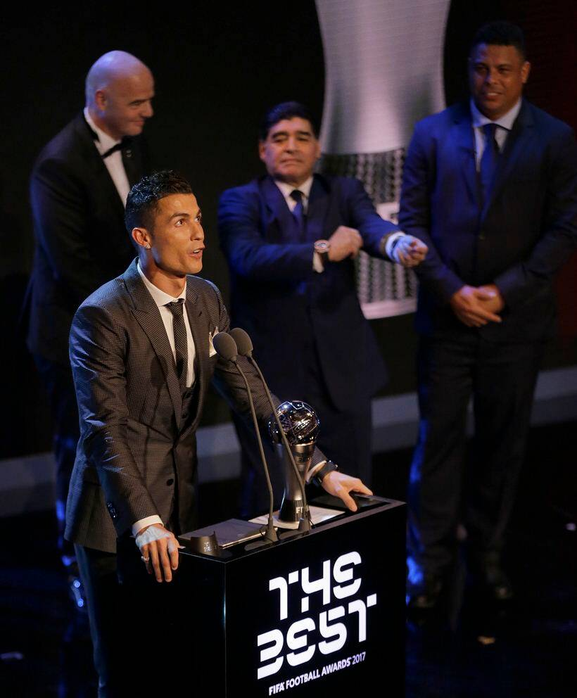 Ronaldo Beats Messi, Wins FIFA's Best Male Player Award