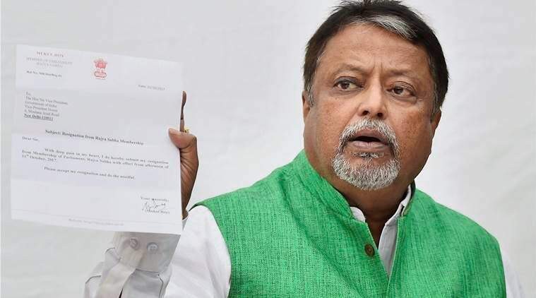Mukul Roy, Mukul roy resigns, TMC leader Mukul roy, TMC leader resigns, TMC, BJP, bengal BJP, india news, indian express