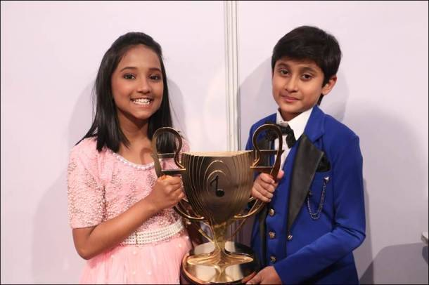 Image result for Sa Re Ga Ma Pa wins the winner of Little Champs and Anjali