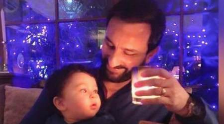 Saif Ali Khan is adorably 'twinning and winning' with son Taimur Ali Khan. See photo