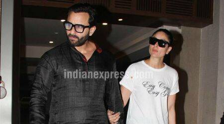 Saif Ali Khan and Kareena Kapoor celebrate five years of togetherness at Soha Ali Khan's residence. See photos
