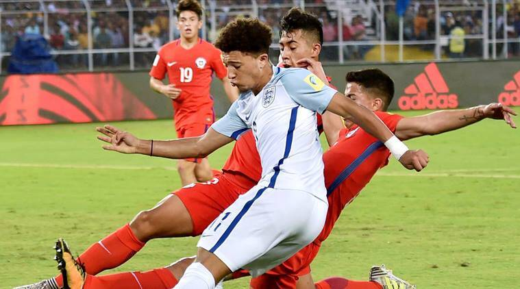 FIFA U-17 World Cup, England vs Chile, Jadon Sancho, sports news, football, Indian Express