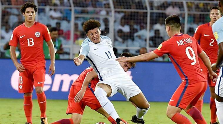 England vs Chile, FIFA U-17 World Cup, Jadon Sacho, sports news, football, Indian Express