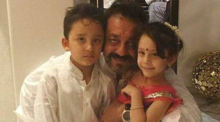 Video: Sanjay Dutt relives childhood with Iqra and Shahraan, misses father Sunil Dutt
