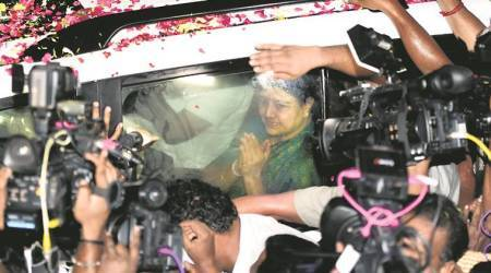 V K Sasikala out on 5-day emergency parole