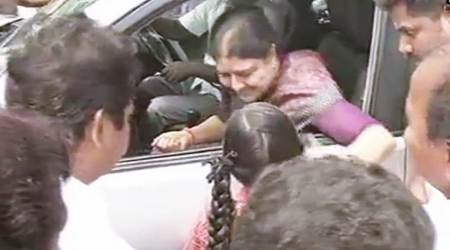 Sidelined AIADMK leader V K Sasikala meets ailing husband in Chennai