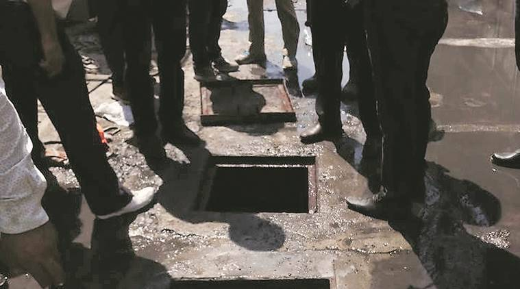 Sewer death, sewer cleaning, gurgaon sewer death, sewer death in gurgaon