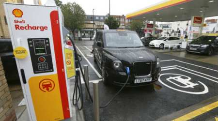 Oil major Shell opens electric vehicle charging points