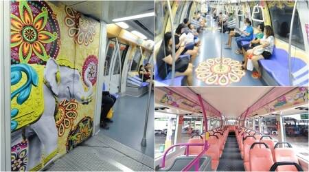Singapore celebrates Diwali with these gorgeously themed buses and trains yetagain