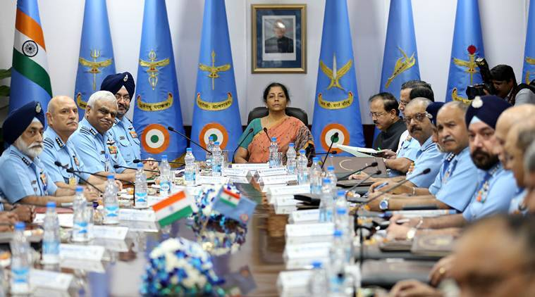 Nirmala Sitharaman, IAF, Indian air force, Defence minister, IAF commanders, Air marshal, IAF choppers, fighter squadrons,