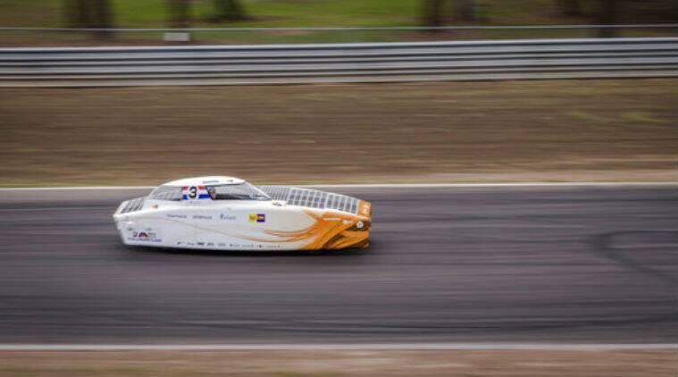 World Solar Challenge, solar car, transcontinental solar race, Delft University of Technology, Nuon Delft team, Nuoan Nuno 9, Michigan University, Novum Michigan University, Punch Powertrain, Darwin to Adelaide race, average solar car speed